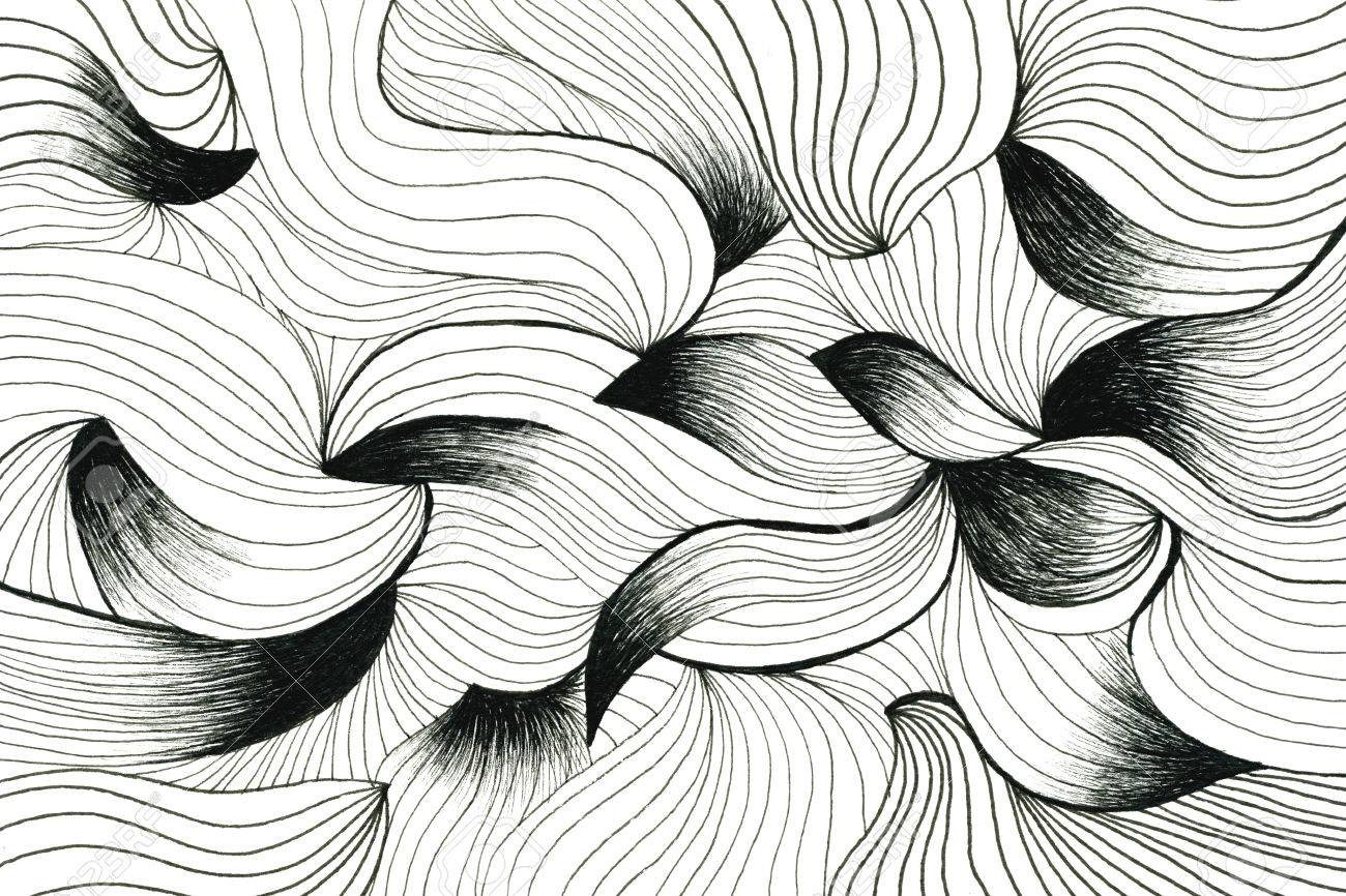 Drawing Using Curved Lines : Beautiful aquarelle abstract wallpaper with undulated curved