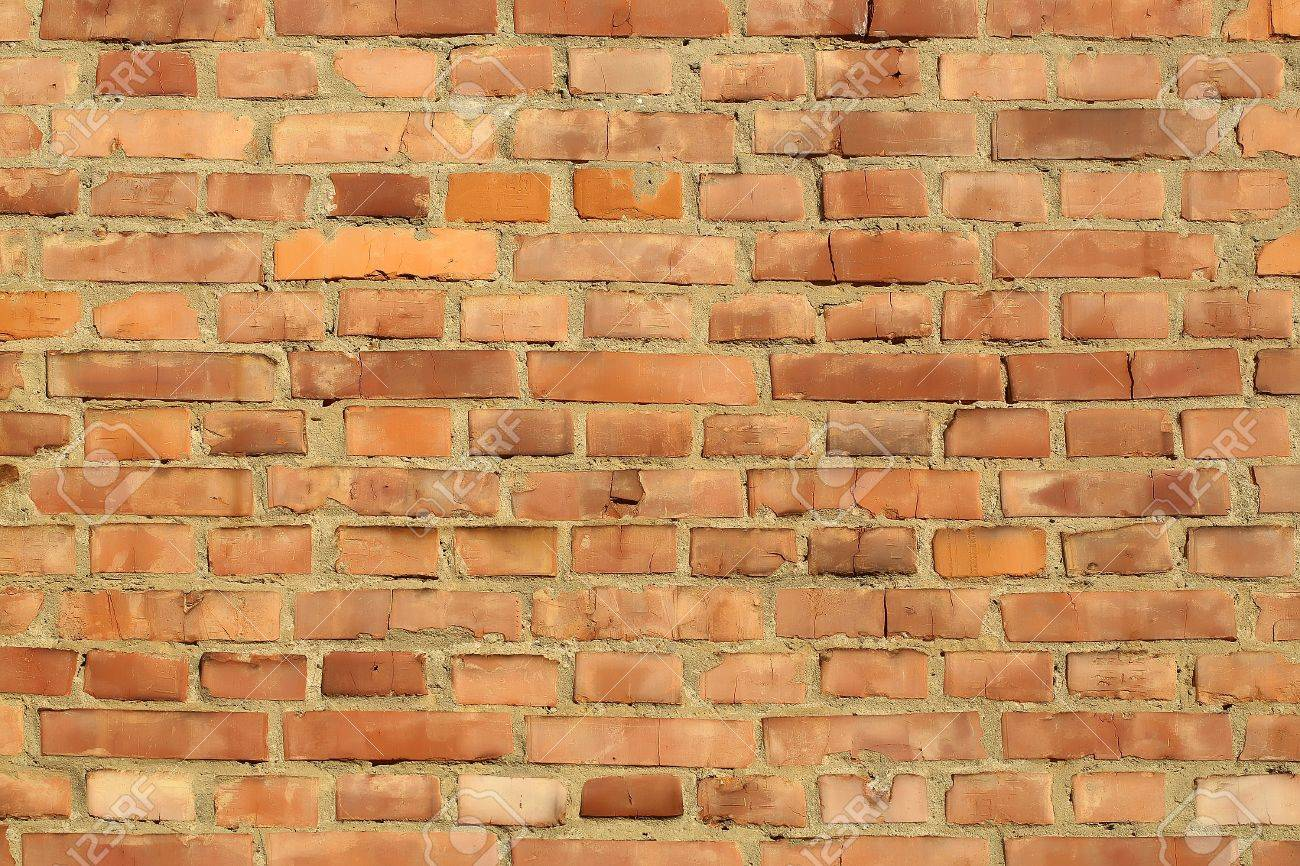 Brick Red Clay Rectangular Facade Wall Exterior Building Materials Closeup  On Masonry Background Stock Photo   Part 82