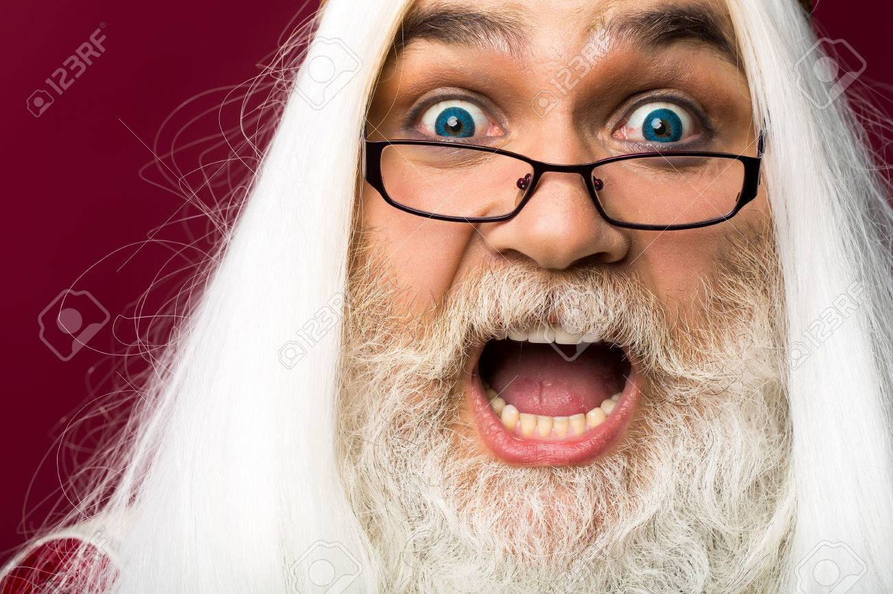 old bearded professor man wizard in glasses with blue lenses