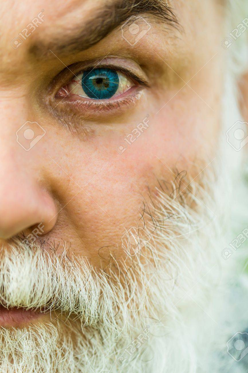 Male Eye With Bright Blue Lens And Hairy Eyebrow Of Old Bearded Stock Photo Picture And Royalty Free Image Image 60027610 60 years old ingrid toying her hairy cunt. male eye with bright blue lens and hairy eyebrow of old bearded