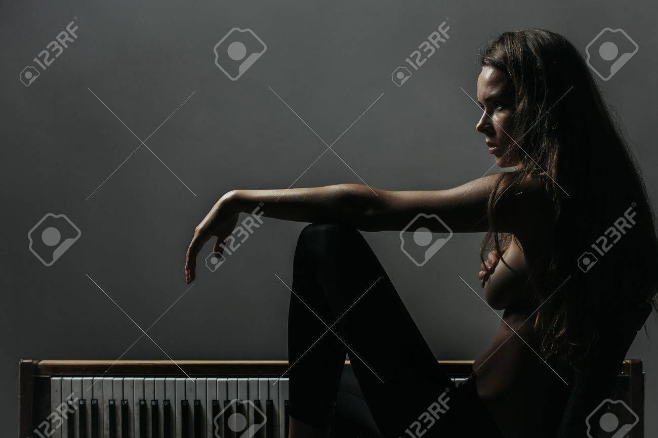 Naked women take huge cocks