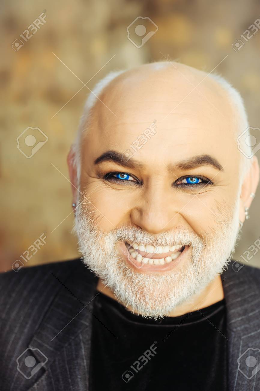 Blue eyed handsome bearded smiling old man in suit with silver blue eyed handsome bearded smiling old man in suit with silver beard and moustache on the publicscrutiny Images