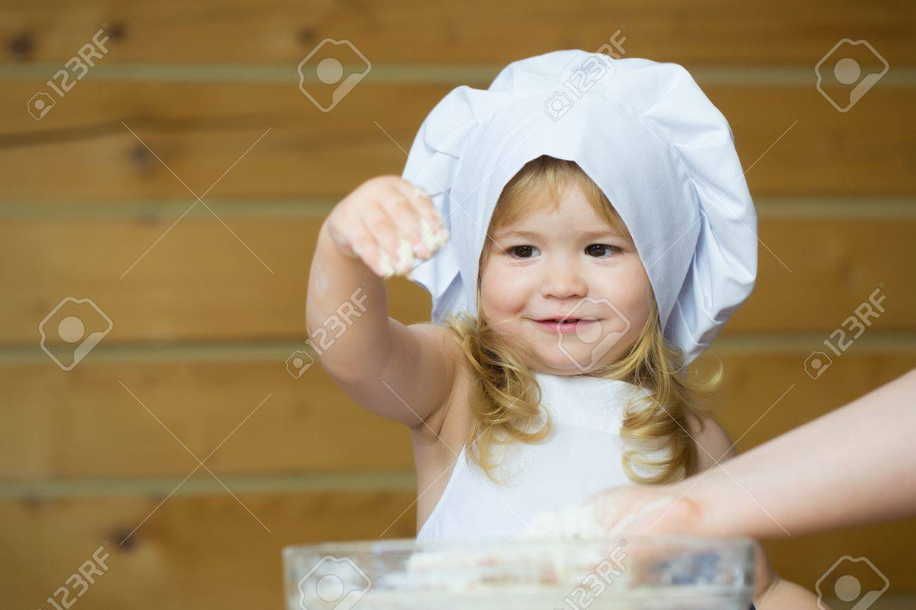 White apron for baby
