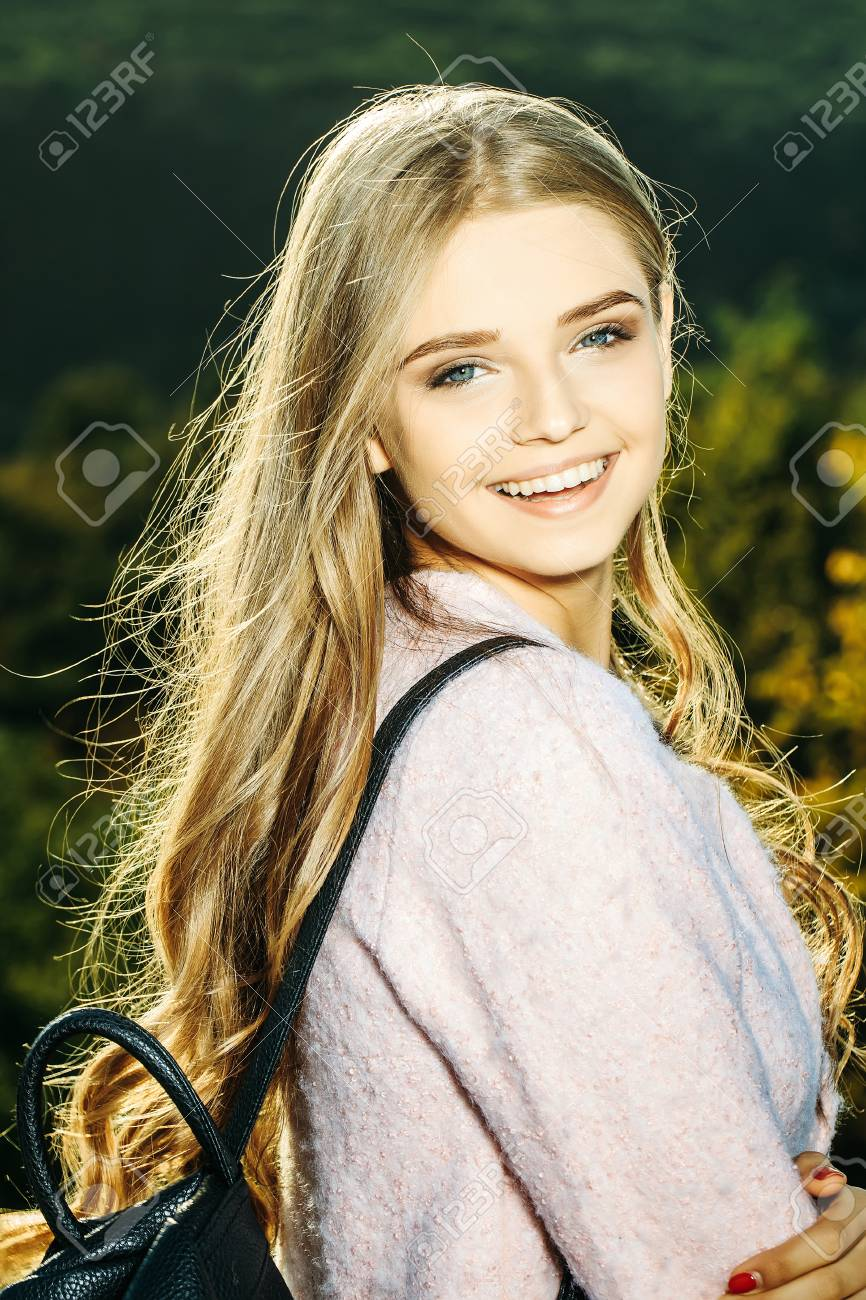 Pretty Girl Young Beautiful Woman Sexy Model With Blue Eyes And Stock Photo Picture And Royalty Free Image Image