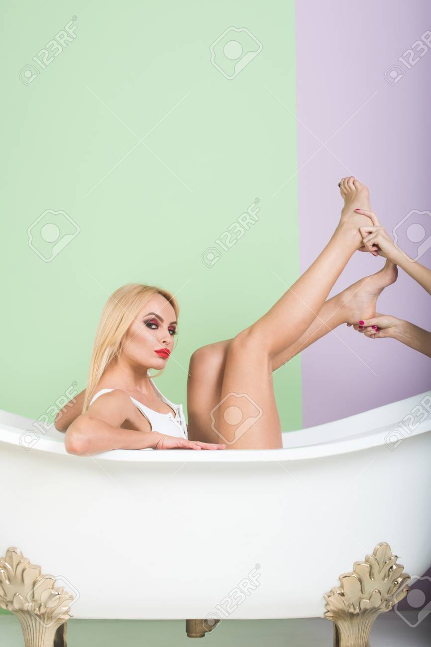Sexy girls in the bathroom