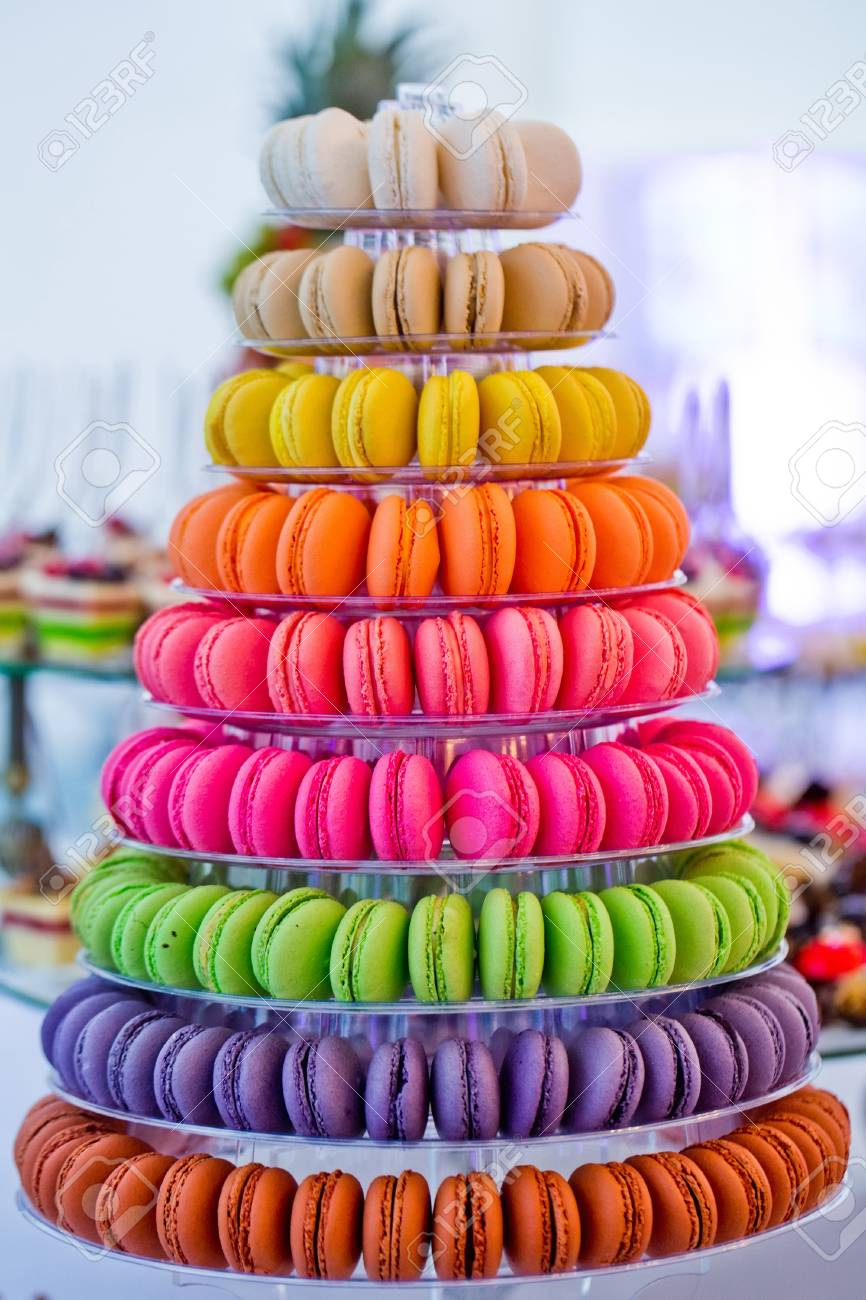 Macaron Kuchen Geschmackvoller Franzosischer Nachtisch Auf