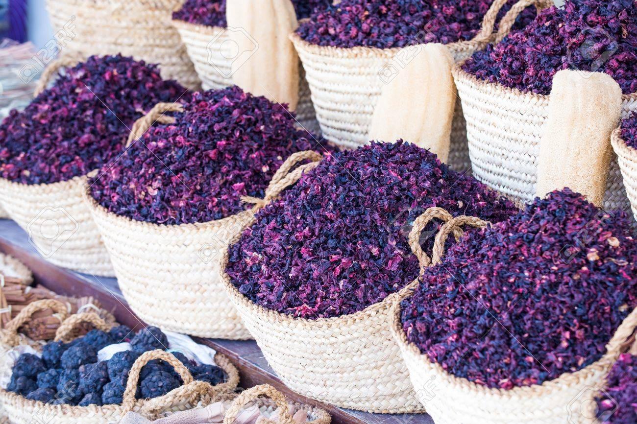 Dry herb hibiscus for tea in baskets arabic herbs on traditional dry herb hibiscus for tea in baskets arabic herbs on traditional bazaar natural organic izmirmasajfo