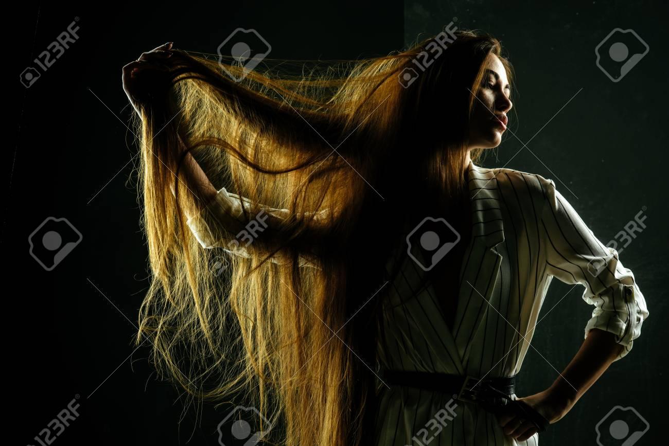 Beauty Salon And Fashion. Haircare And Shampoo. Hairdresser And ...