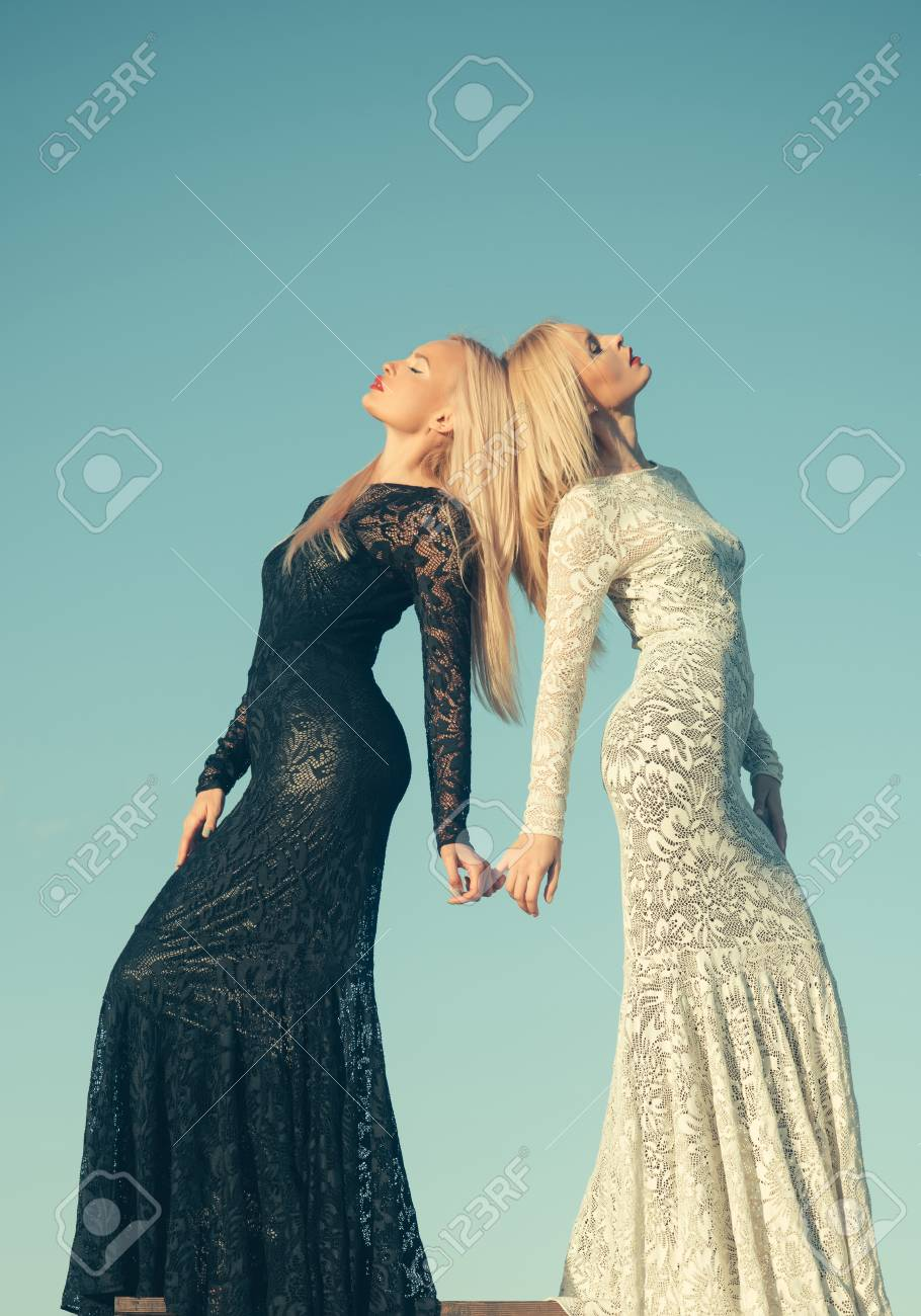 Fotos de mujeres con vestidos blancos