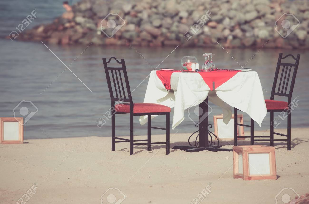 Sea Beach Restaurant Or Cafe On Sunny Day Table With Chairs Stock Photo Picture And Royalty Free Image Image 92085253