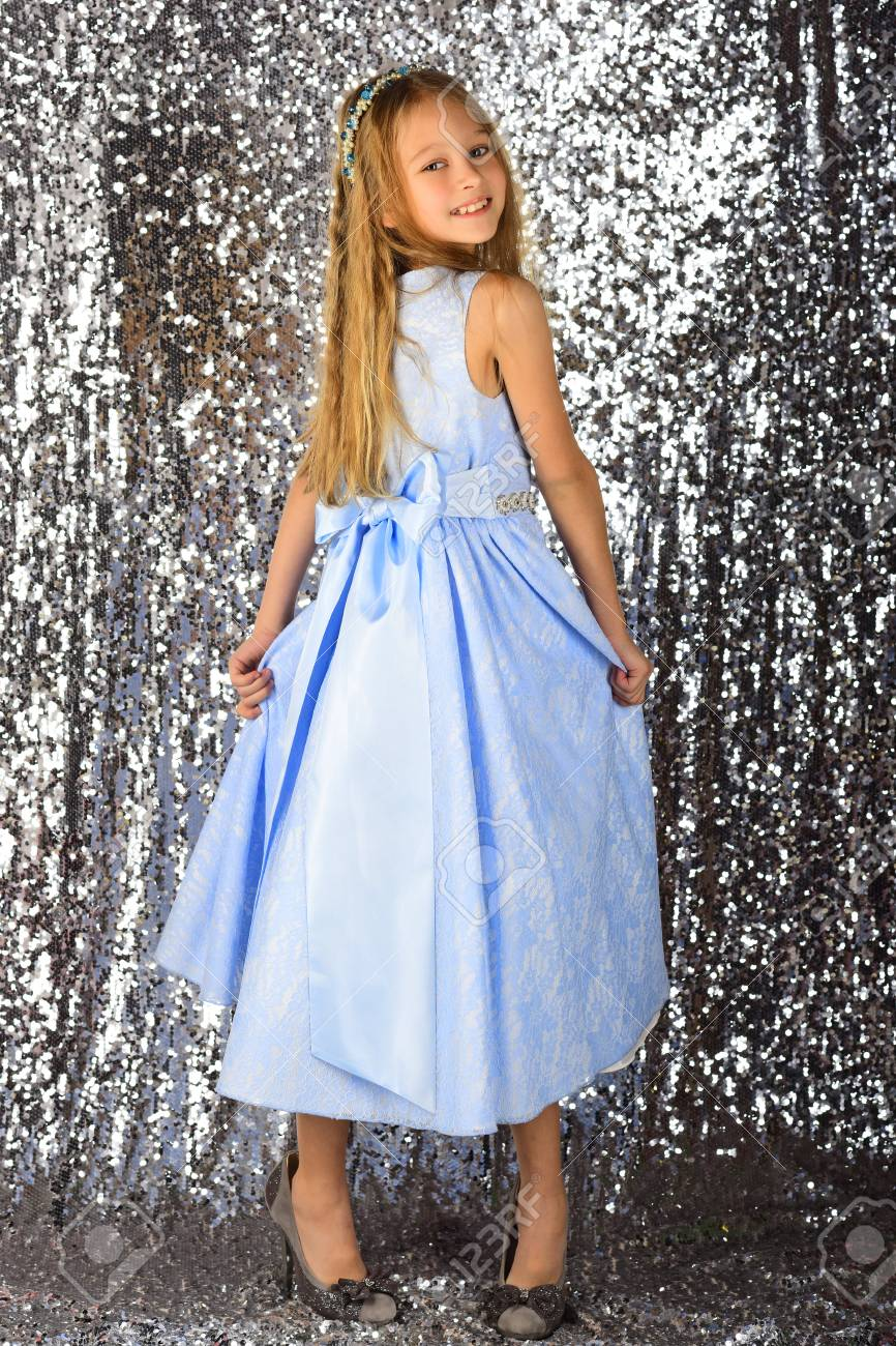 Little Girl Model, Wedding, Fashion Concept - Girl Dressed In ...