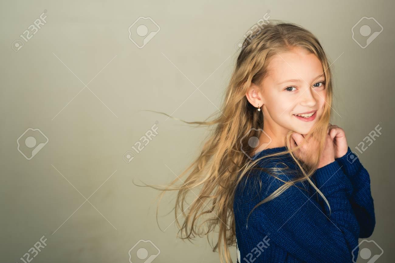 healthy hair of little girl  healthy hair of small girl kid,