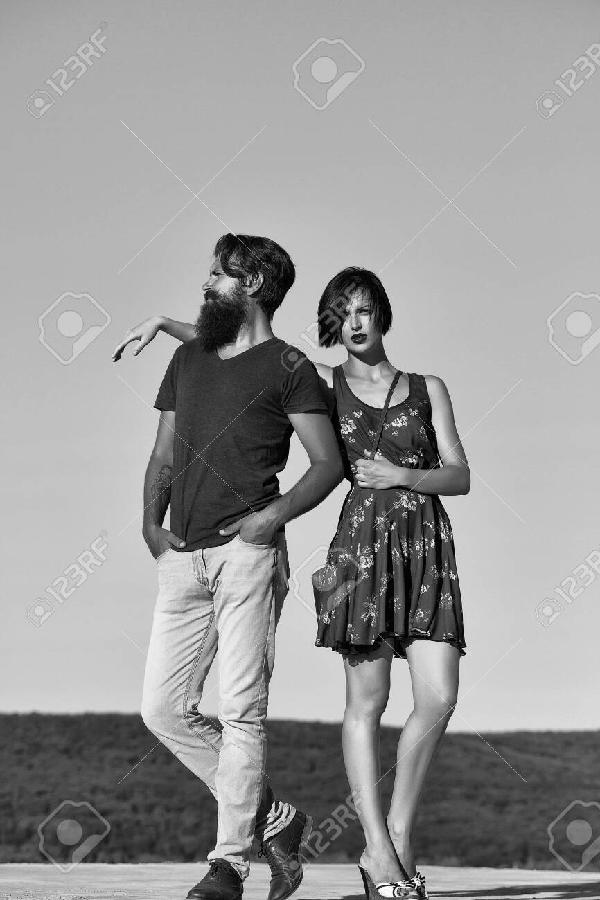 Sexy Couple In Love Couple Pose On Blue Sky Stock Photo Picture And Royalty Free Image Image 101766561