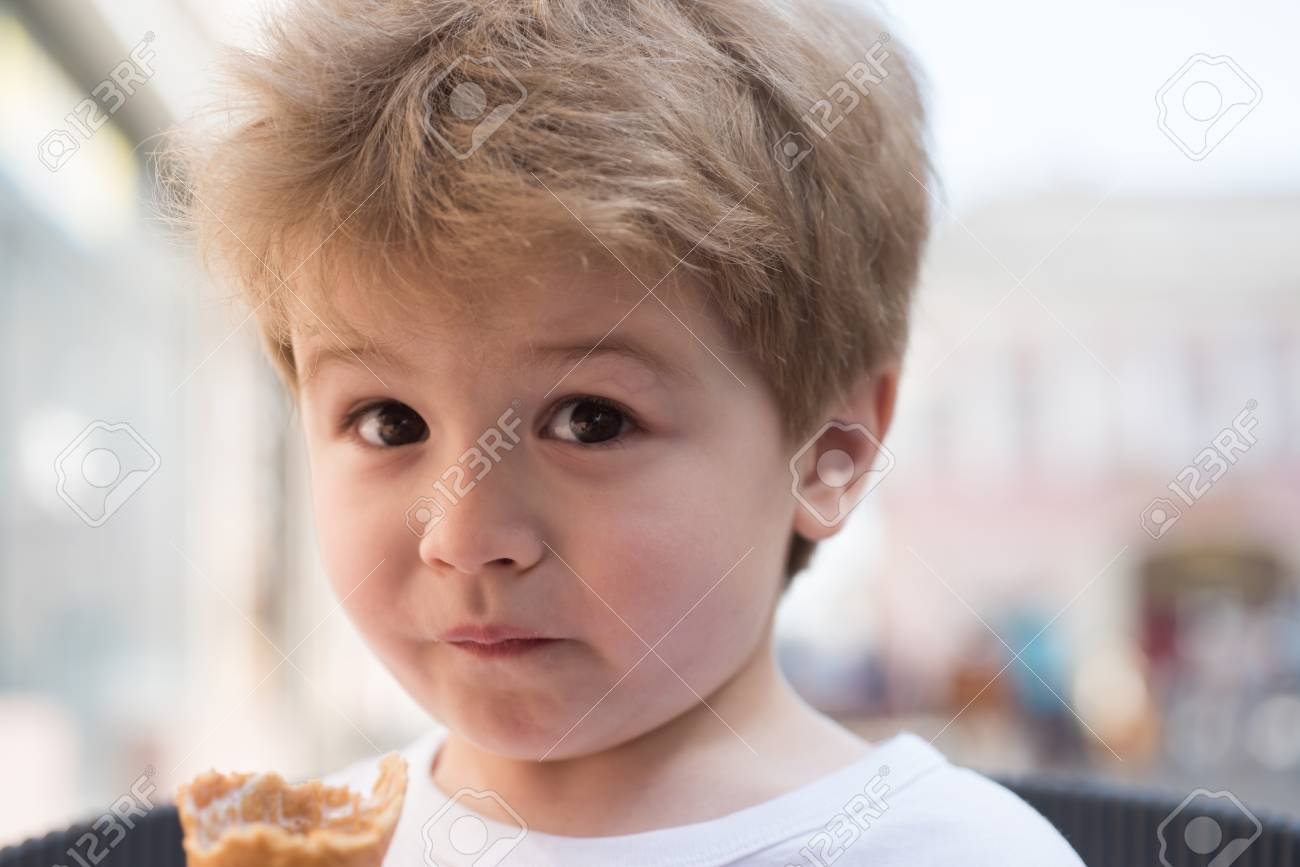 I Look Nice And So My Hair Does. Small Boy With Stylish Haircut ...