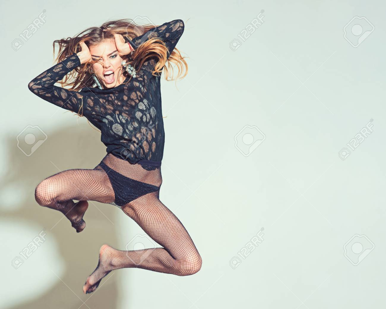 Young Beautiful Jumping Woman Model Wearing Tights And Jumping Stock Photo Picture And Royalty Free Image Image 118683600 By placing a query in quotation marks pantyhose you can find a complete match. young beautiful jumping woman model wearing tights and jumping