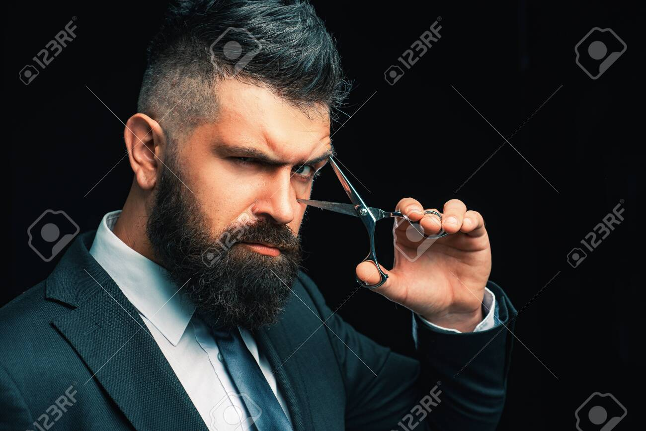 Barbershop Concept Perfect Beard Haircuts For Men Stylish Stock Photo Picture And Royalty Free Image Image 128416504