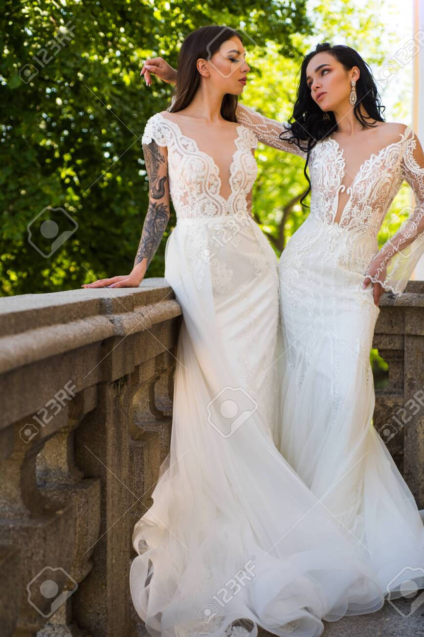 Elegant wedding salon is waiting for bride. Beautiful wedding..