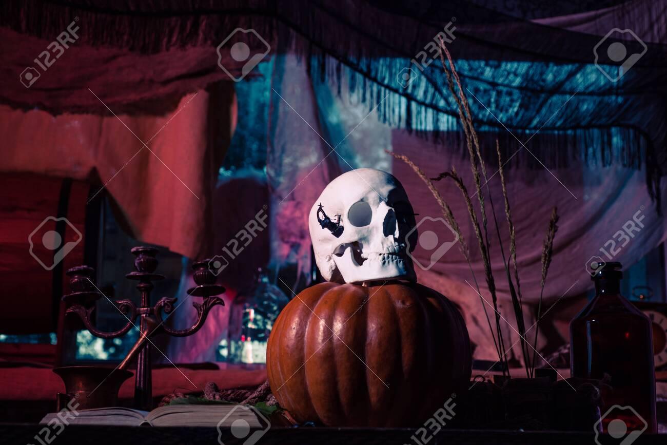 Pumpkin And Skull Halloween Decorations Happy Halloween Weekends