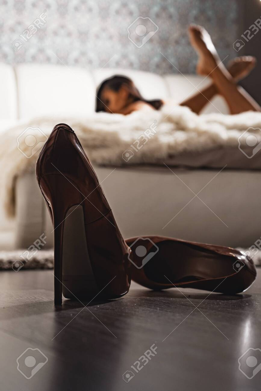 High Heels In Front Of Female Bedroom Defocused Sexy Erotic Stock Photo Picture And Royalty Free Image Image 132316566