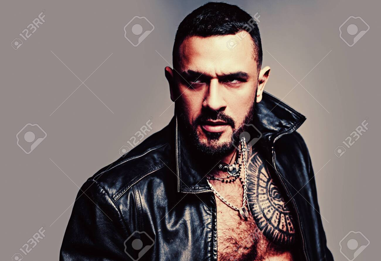 In His Brutal Style Brutal Hispanic Man Bearded Latino Man Stock Photo Picture And Royalty Free Image Image 152494242