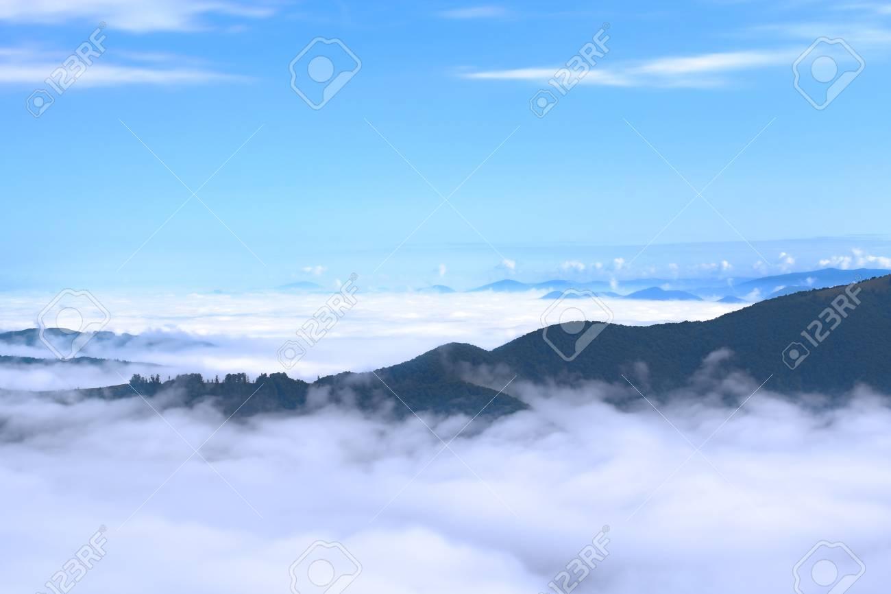 Aerial view on Carpathian mountains Stock Photo - 14395599