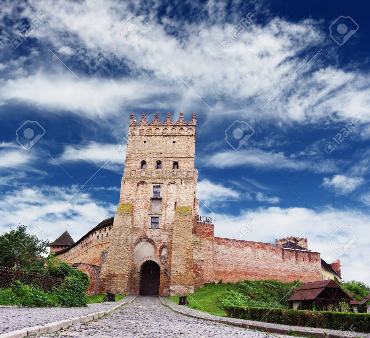 Famous castle in Lutsk over beautiful blue cloudy sky, Ukraine Stock Photo - 14565196
