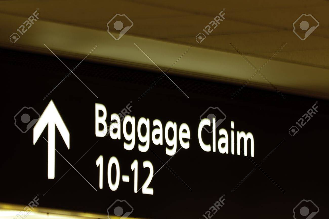 Baggage claim sign at Denver International Airport Stock Photo - 15348046