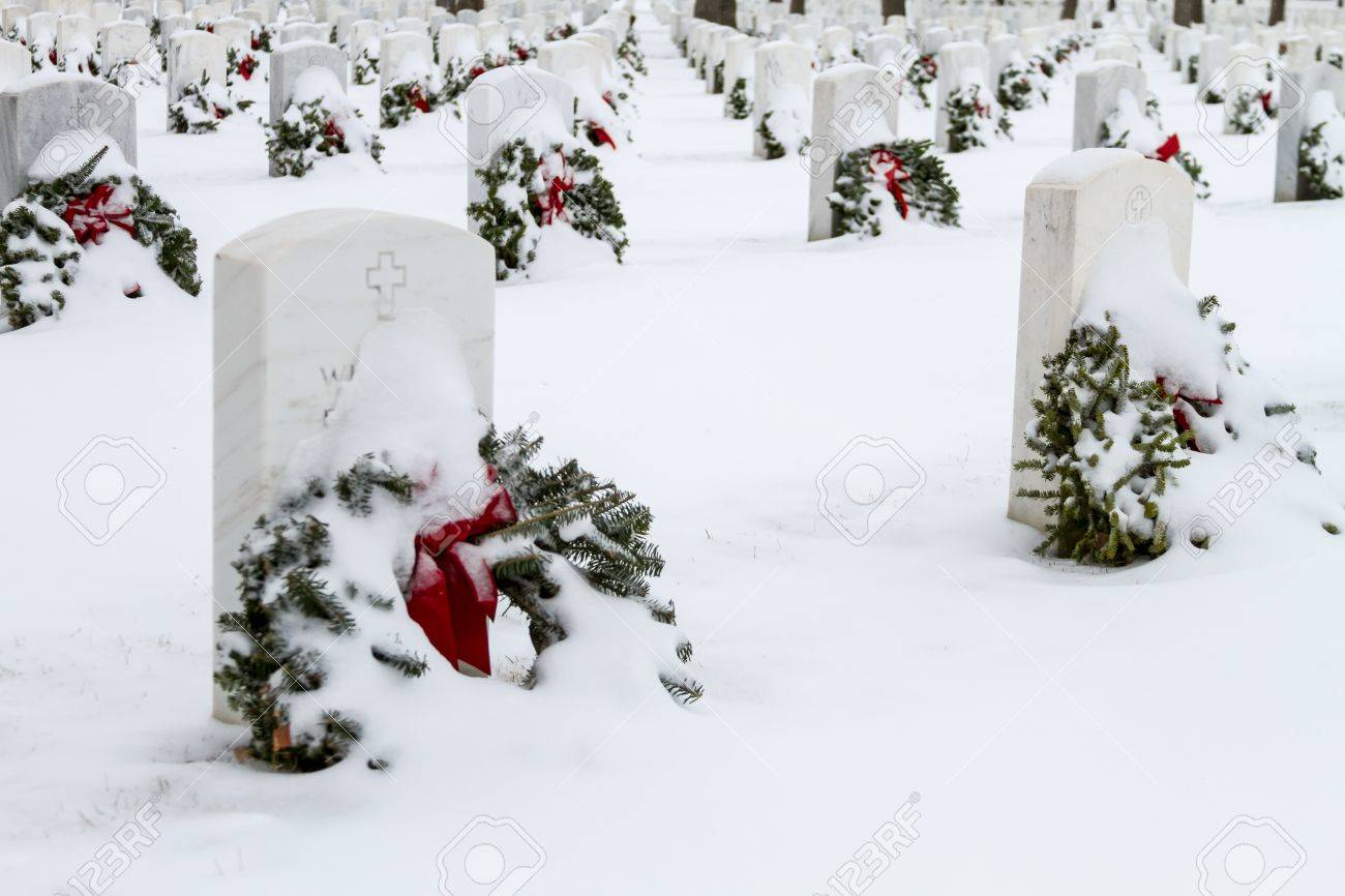 2012 Wreaths Across America at Fort Logan National Cemetery Colorado Stock Photo - 17044823