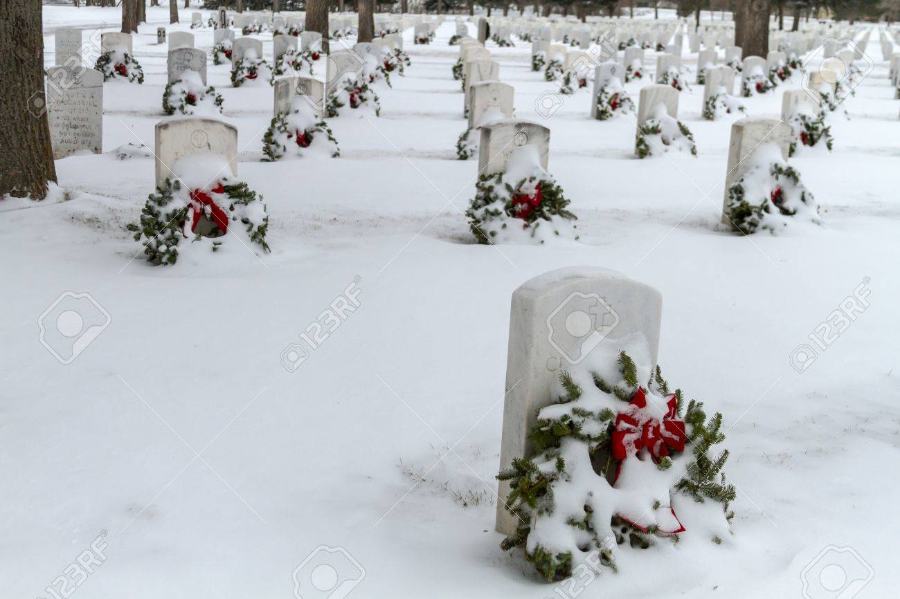 2012 Wreaths Across America at Fort Logan National Cemetery Colorado Stock Photo - 17044845
