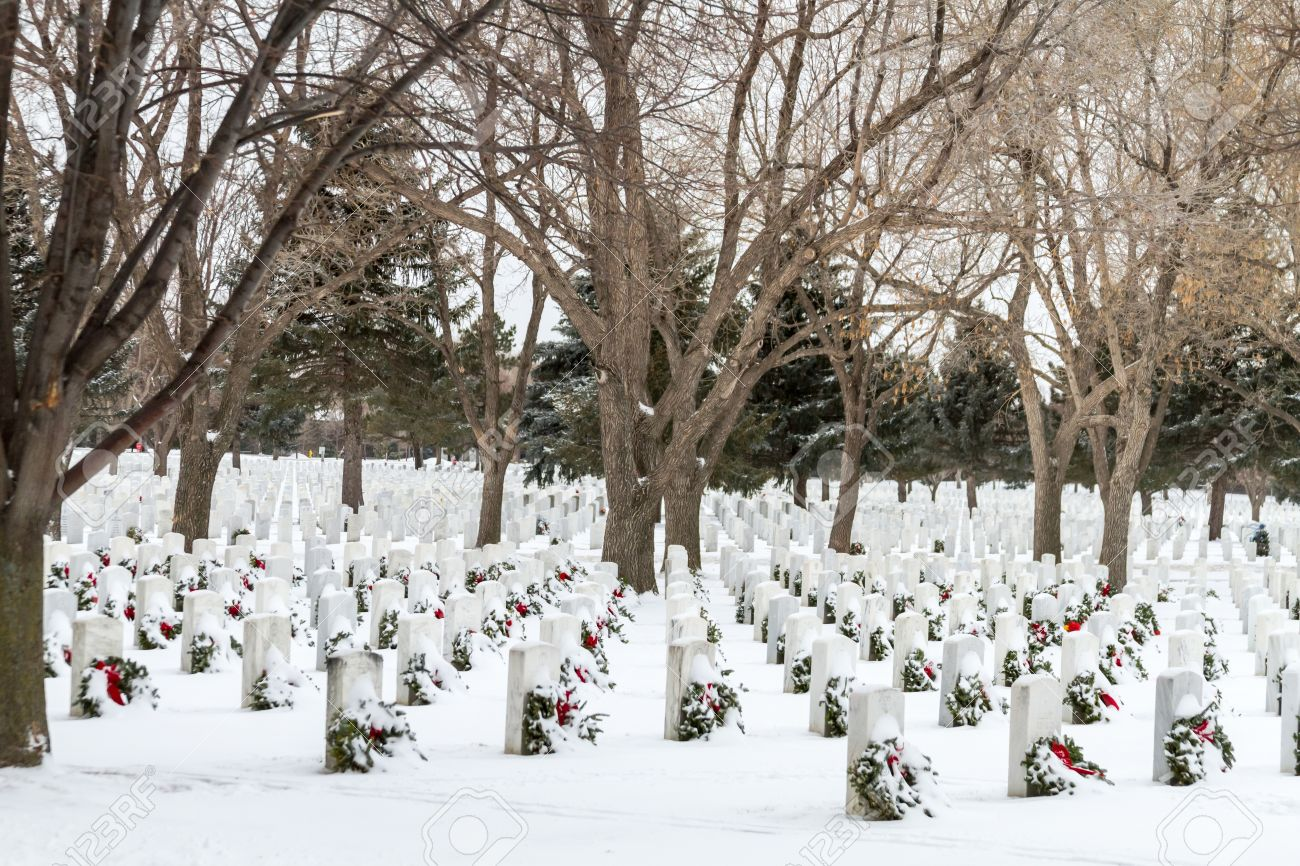2012 Wreaths Across America at Fort Logan National Cemetery Colorado Stock Photo - 17044846