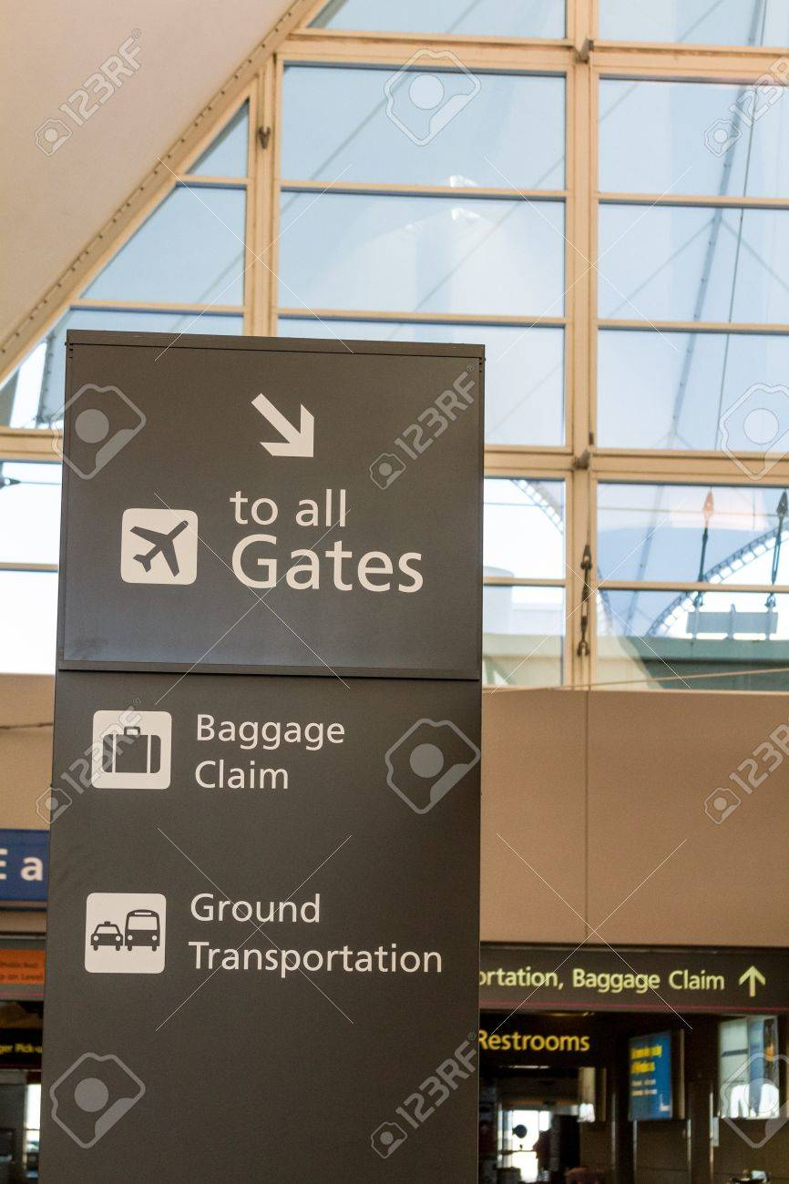 Directional sign in airport Stock Photo - 17403481