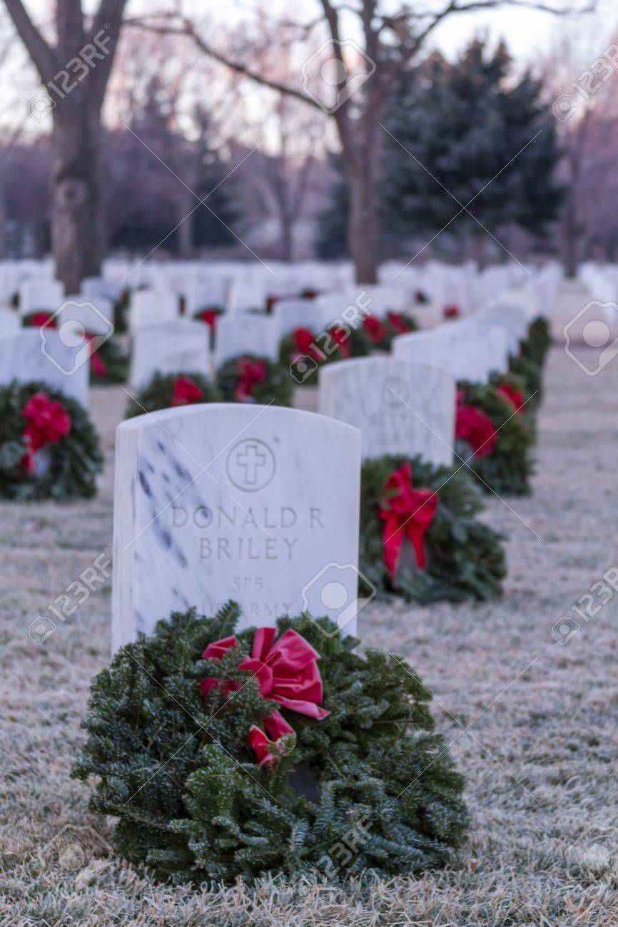 2012 Wreaths Across America at Fort Logan National Cemetery Colorado Stock Photo - 17523530