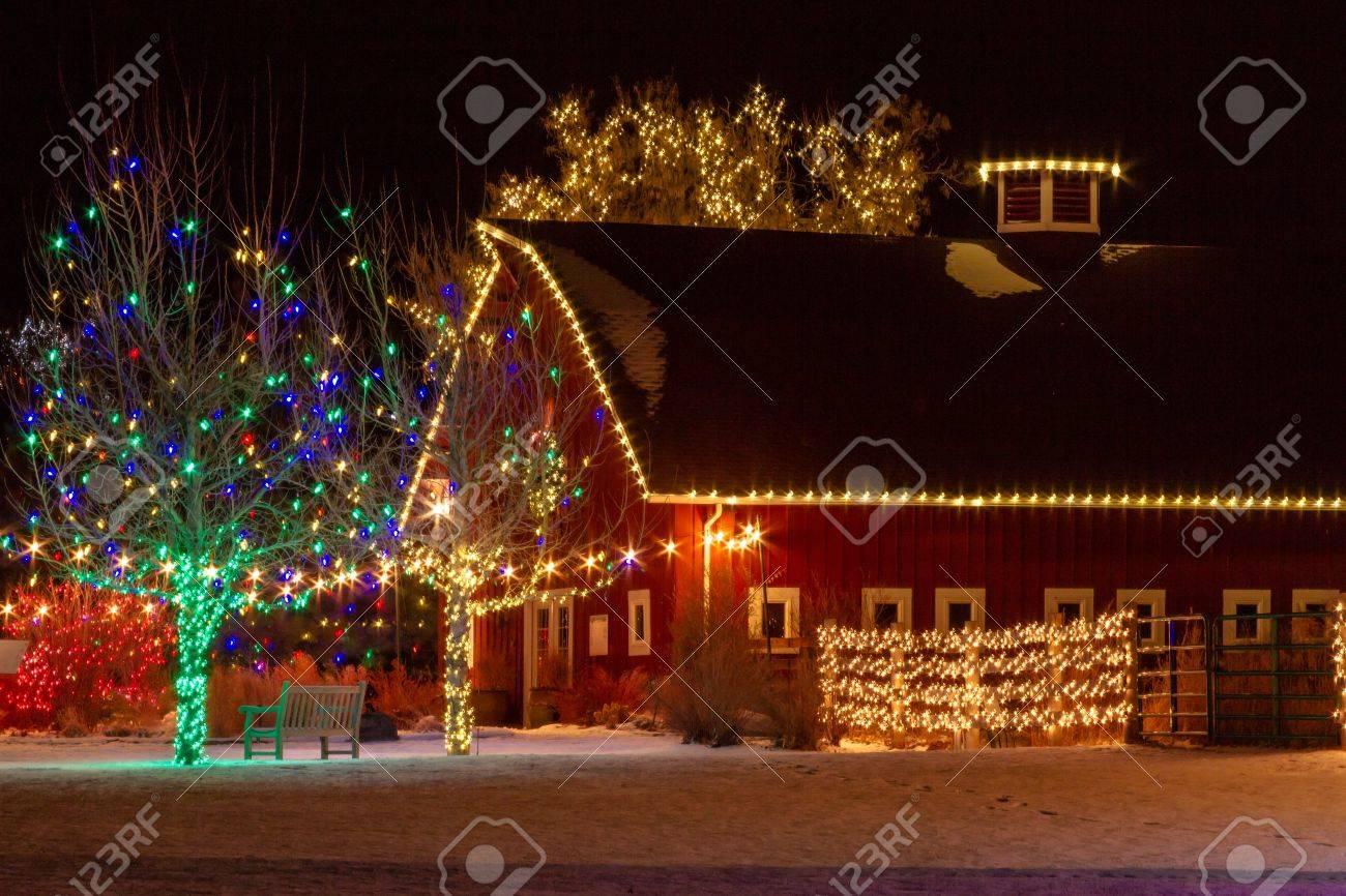 2012 Denver Botanical Gardens Trail of Lights Christmas light display at Chatfield Stock Photo - 17523570