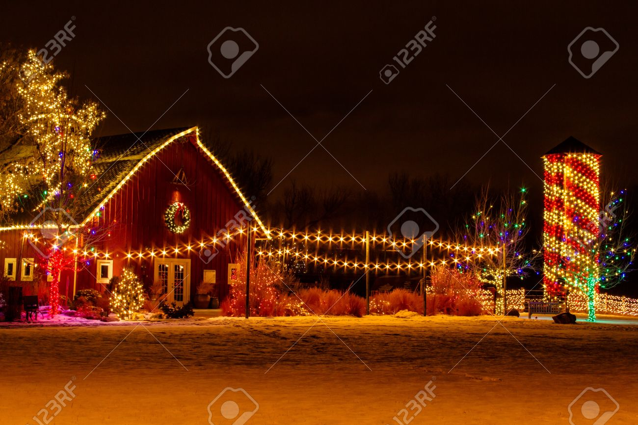 2012 Denver Botanical Gardens Trail of Lights Christmas light display at Chatfield Stock Photo - 17523550