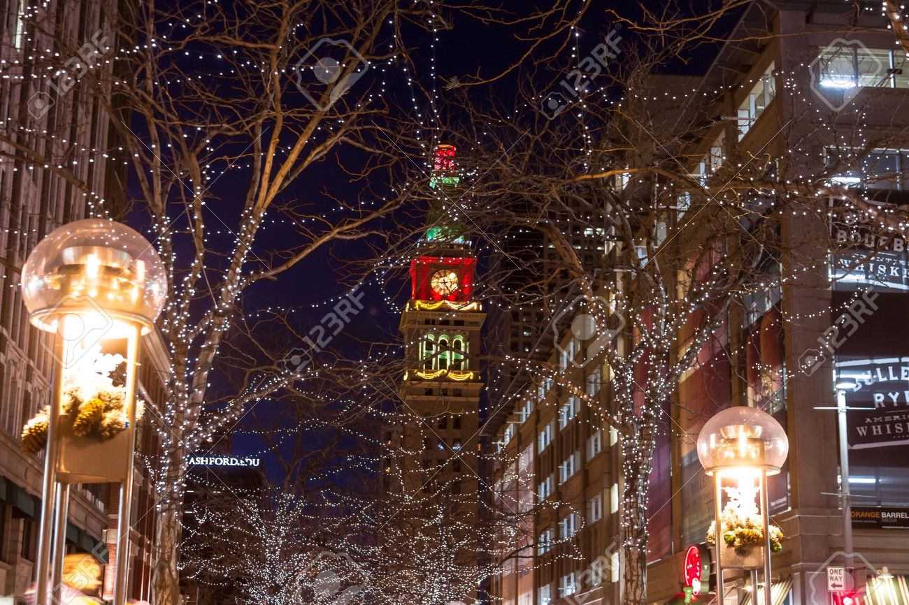 D&F Tower On The 16th Street Mall In Downtown Denver Colorado ...