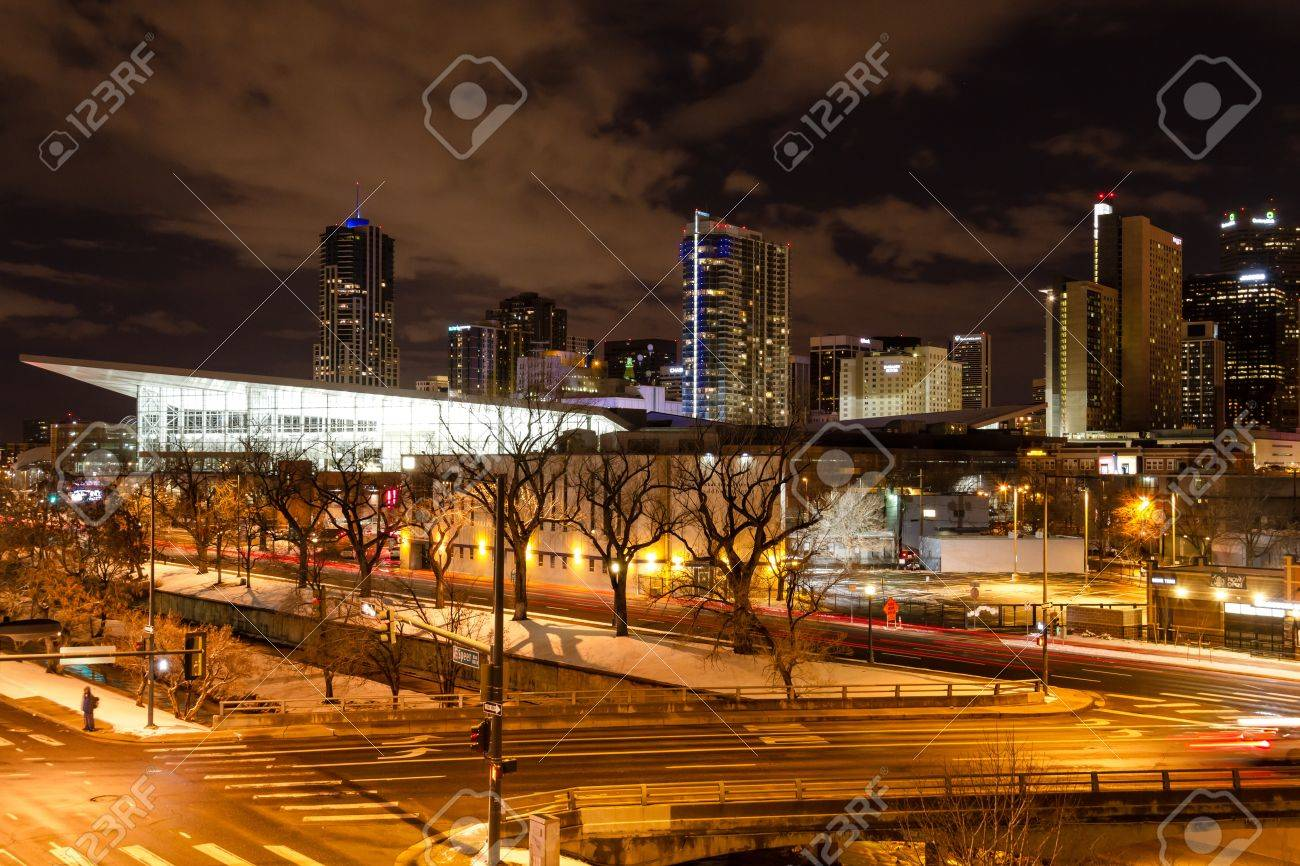 Denver At Night Winter