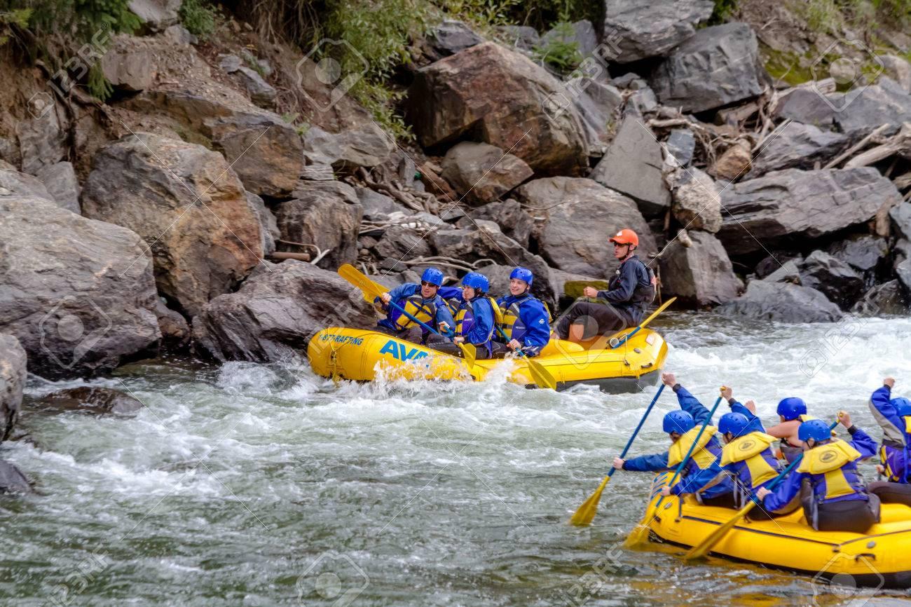 CLEAR Creek, Colorado / USA - 31. August 2014: Spätsaison Wildwasser ...