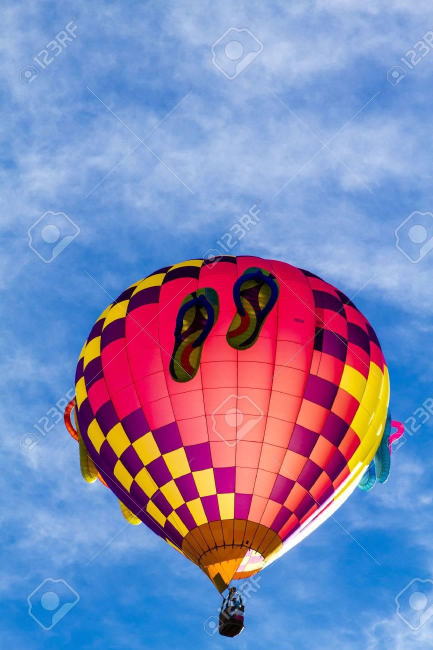 Caliente De Aire Con Globo Colores Sandalias Brillantes Flip Flop CBxorde
