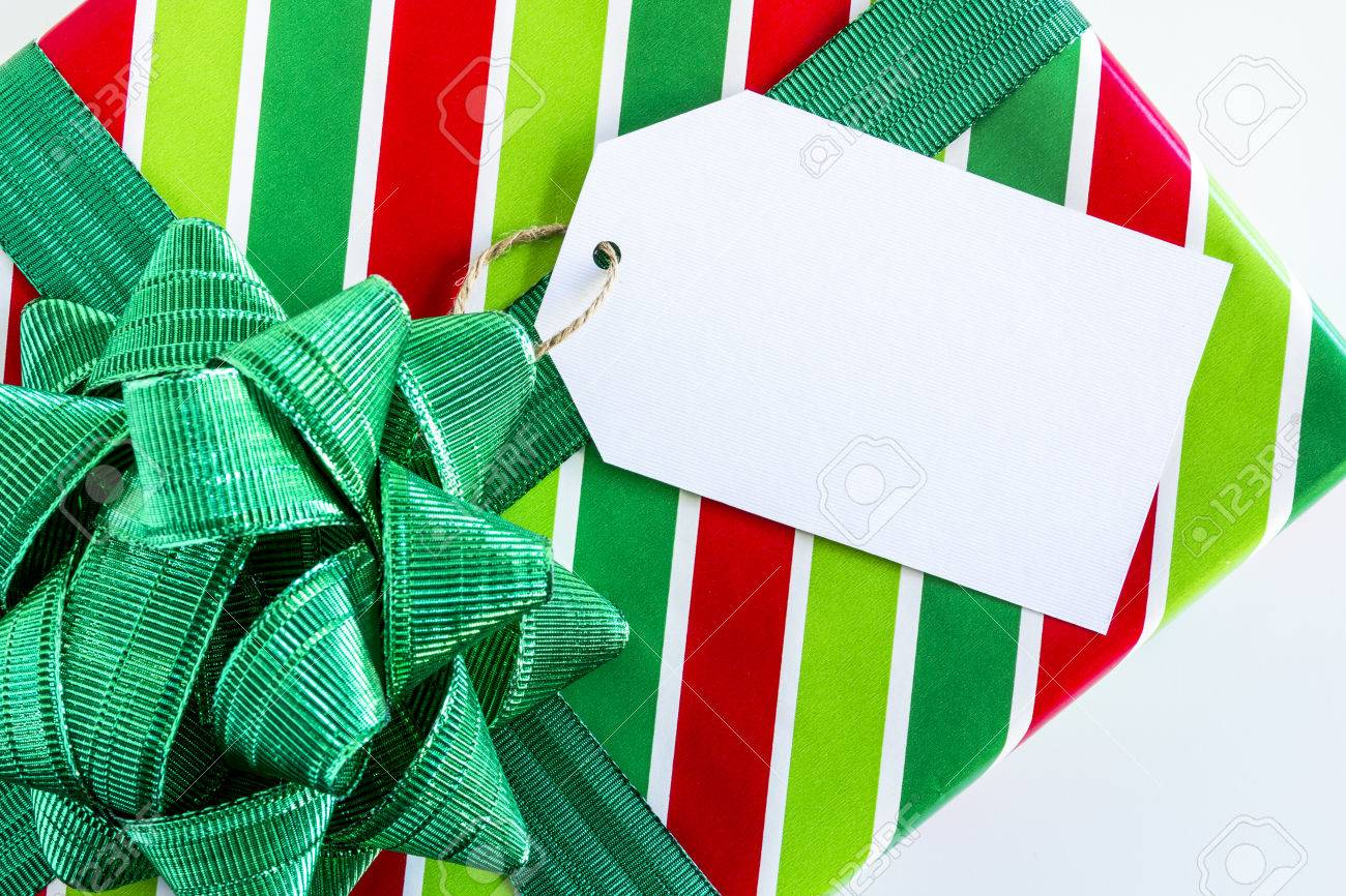 CHRISTMAS WRAPPING RIBBON Green Red and White