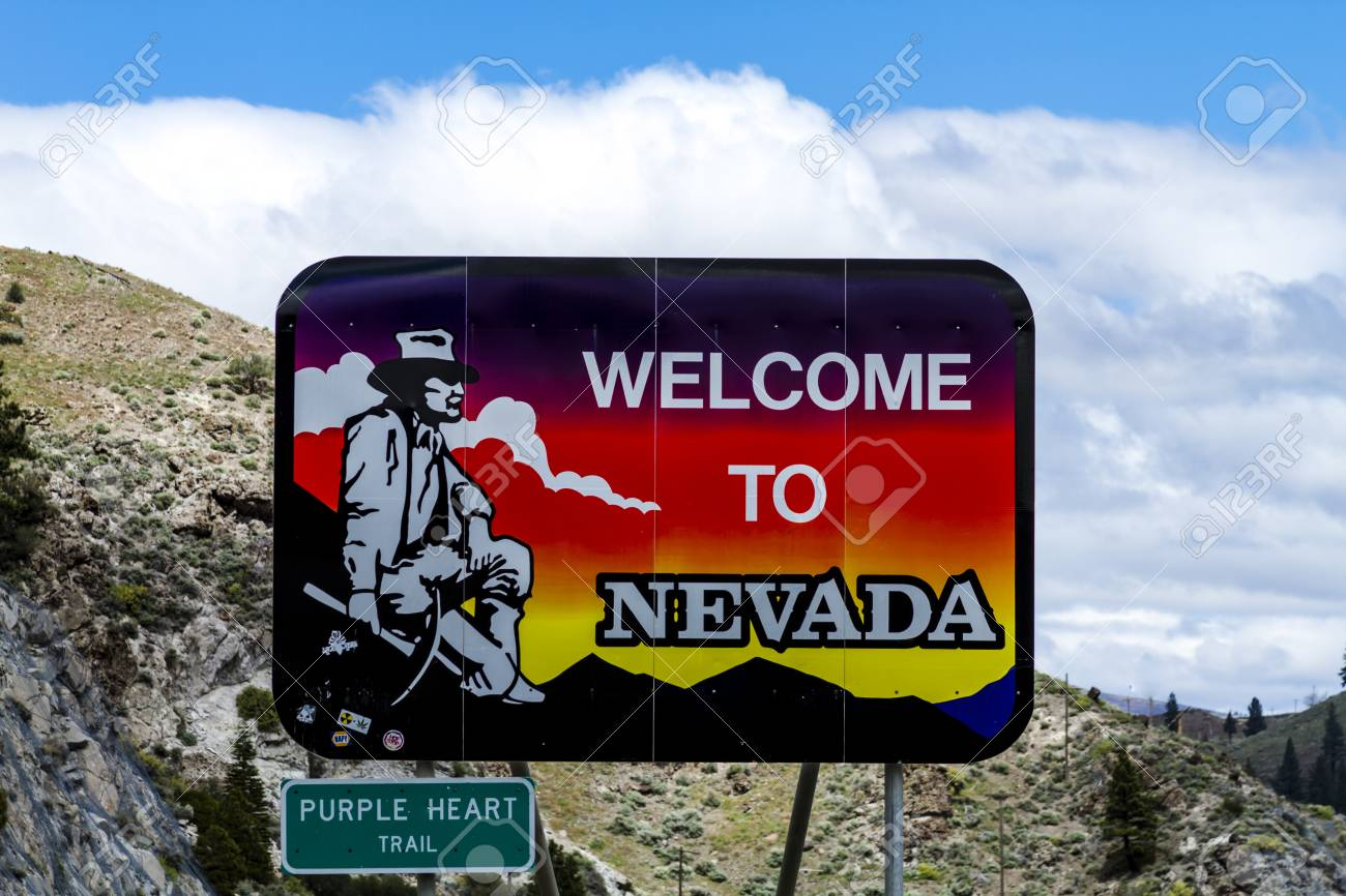 Picture And Stock Border Image Image Photo To Upon Free 56511496 Welcome Royalty On State Nevada Sign Entering Highway