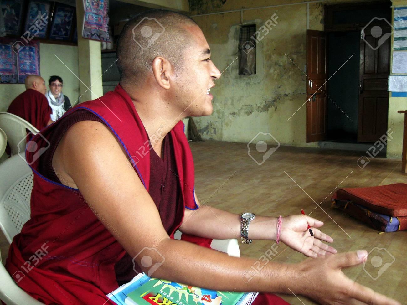Tibetan Buddhist Geshe Doctor of Philosophy Stock Photo - 53148583