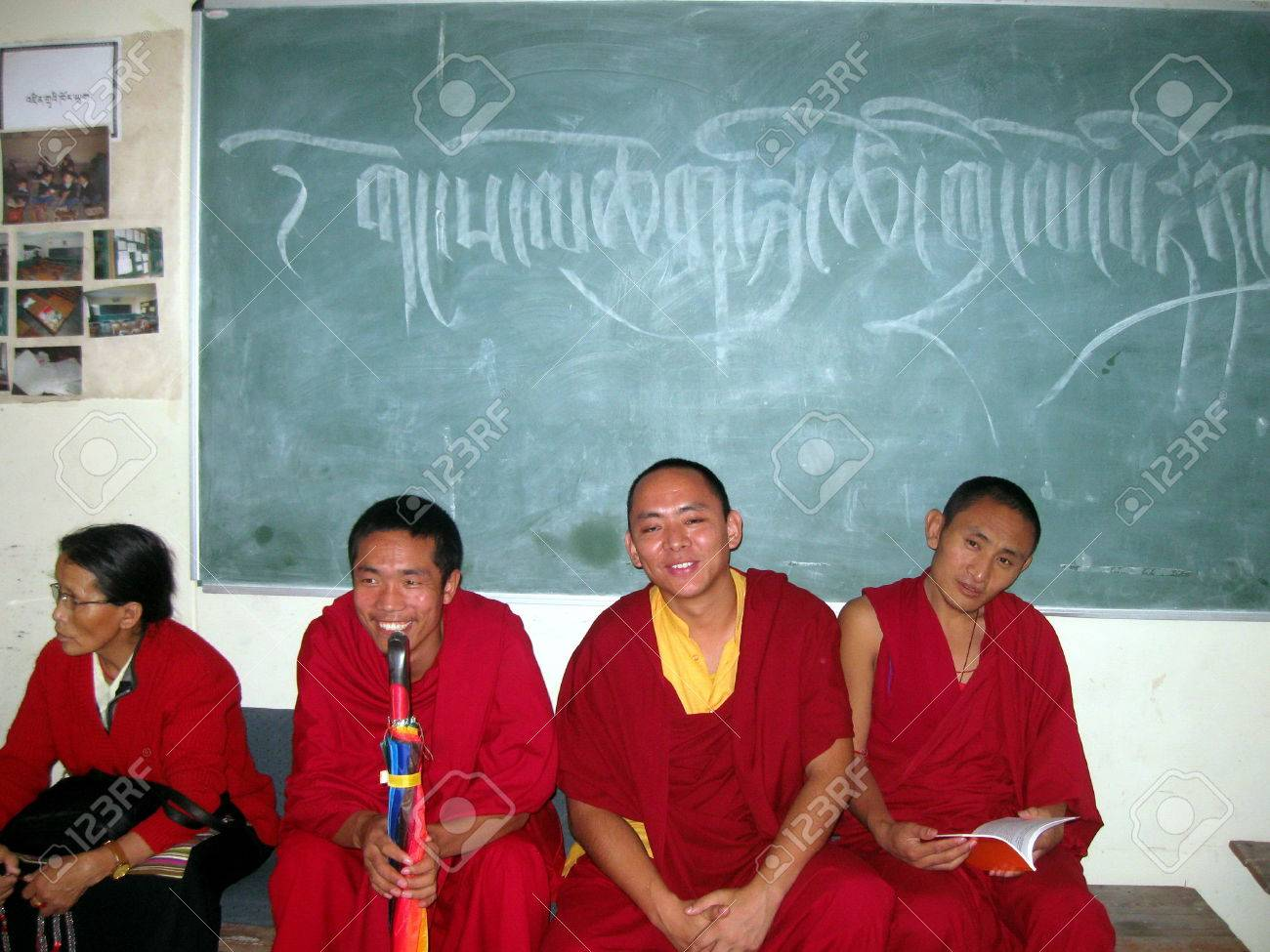 Young Tibetan Buddhist Monks Dharamsala India Stock Photo - 53148587