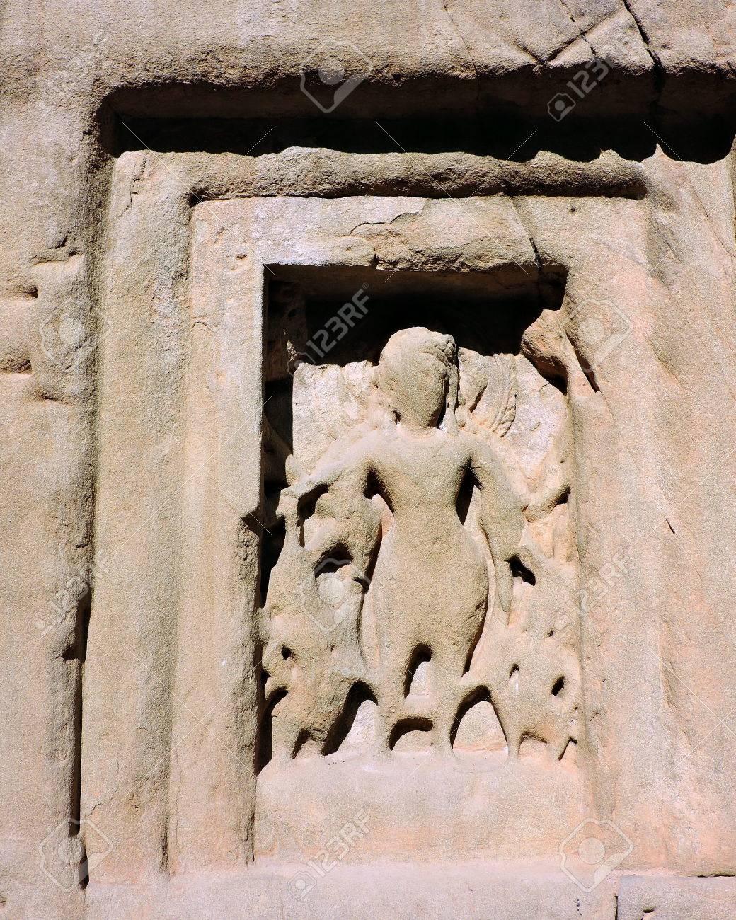 India Architecture Ancient Deity Figures Stock Photo - 50491687
