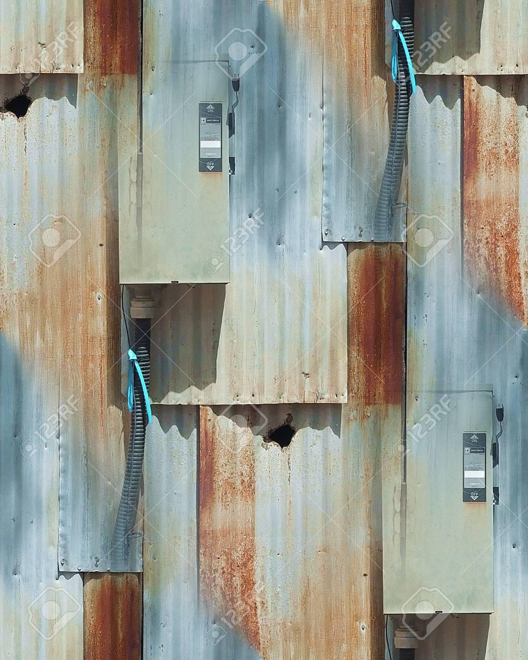 Rusted Metallic Siding Seamless Repeating Pattern Stock Photo - 54780771