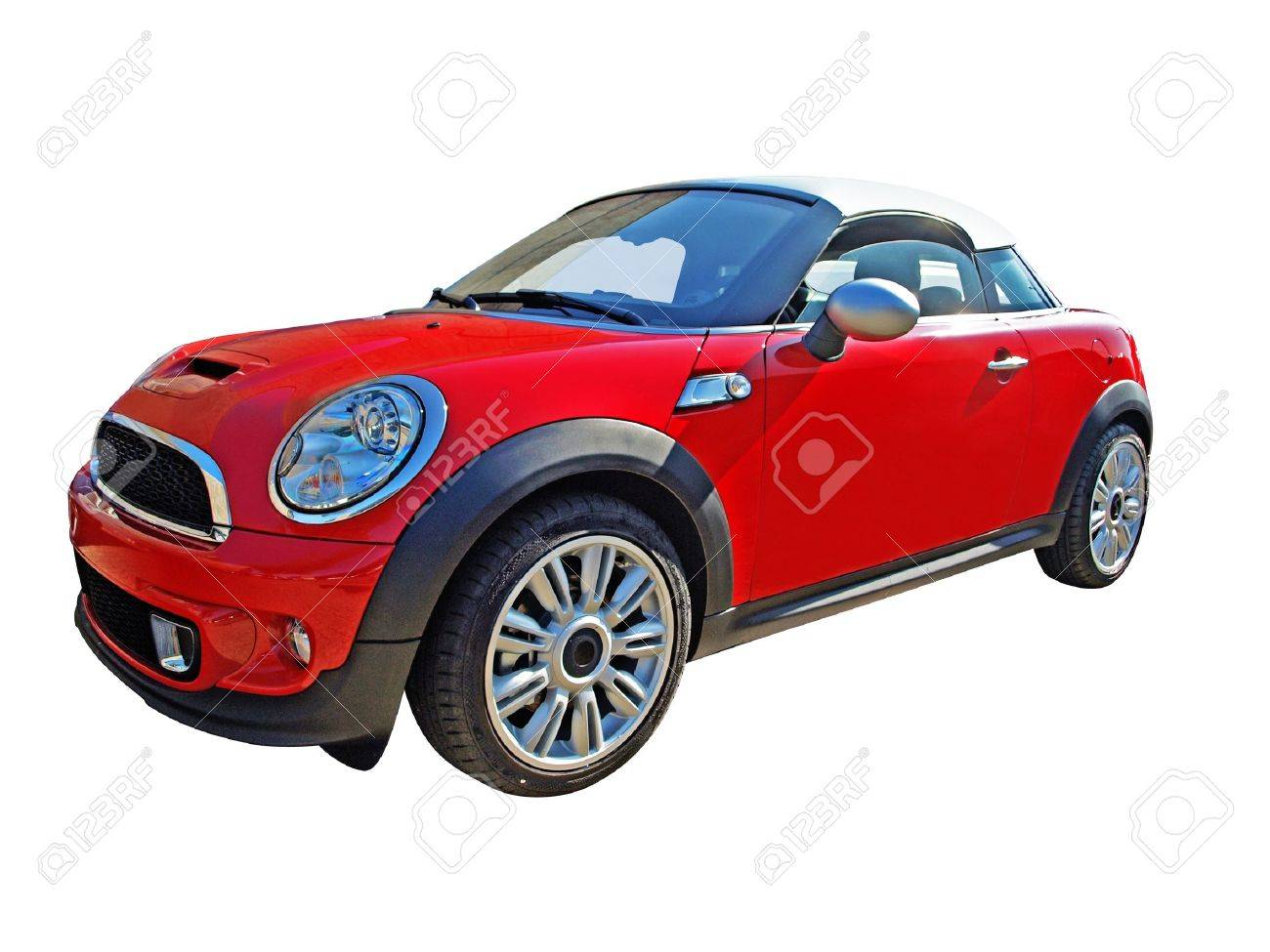 A mini cooper cabriolet car isolated on white Stock Photo - 20346023