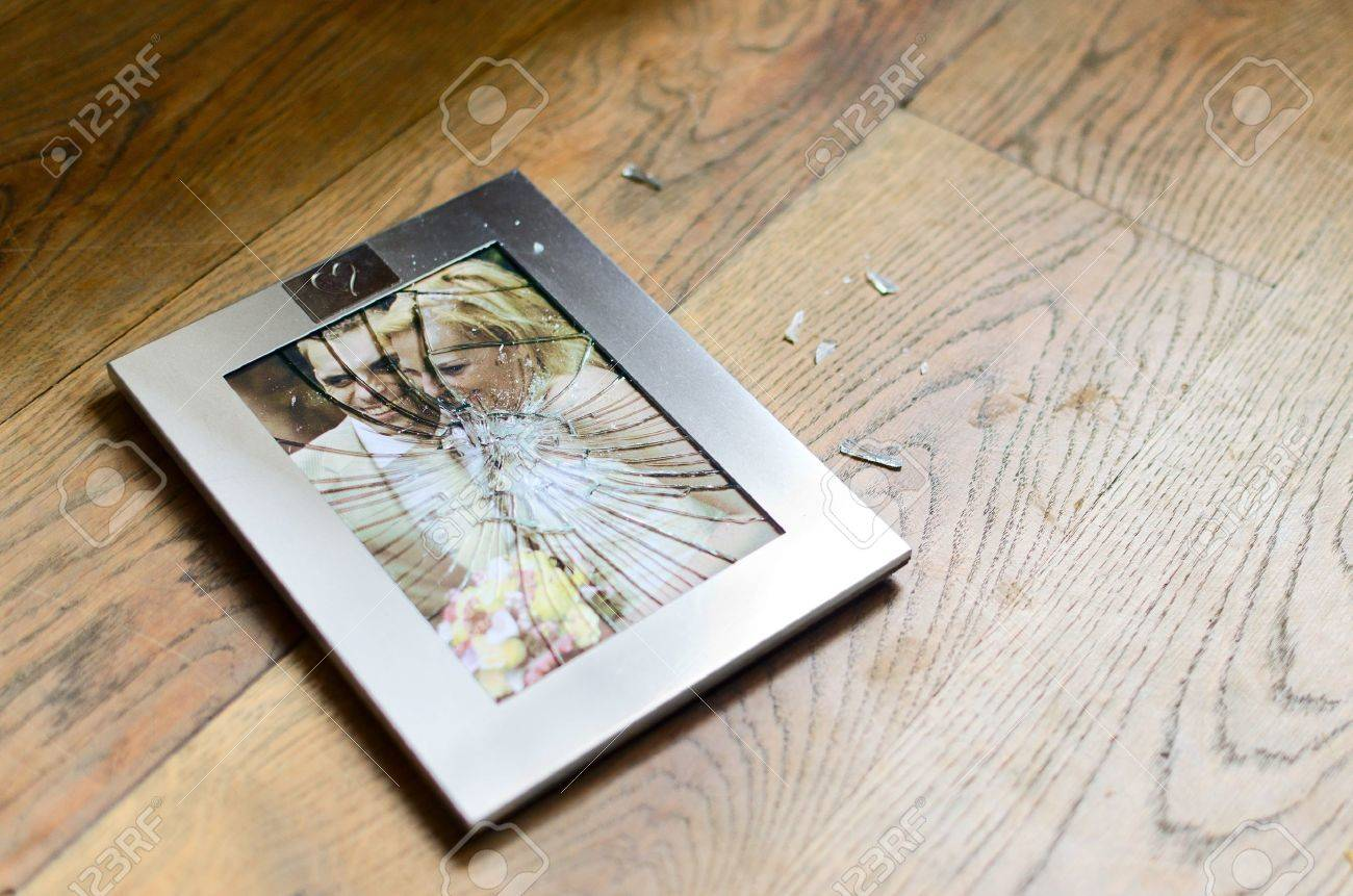 Broken Picture Frame Of Married Couple Stock Photo, Picture And ...