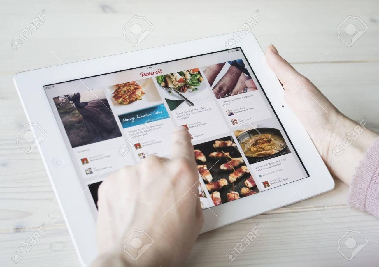 Pinterest on tablet pc or iPad - 25694960