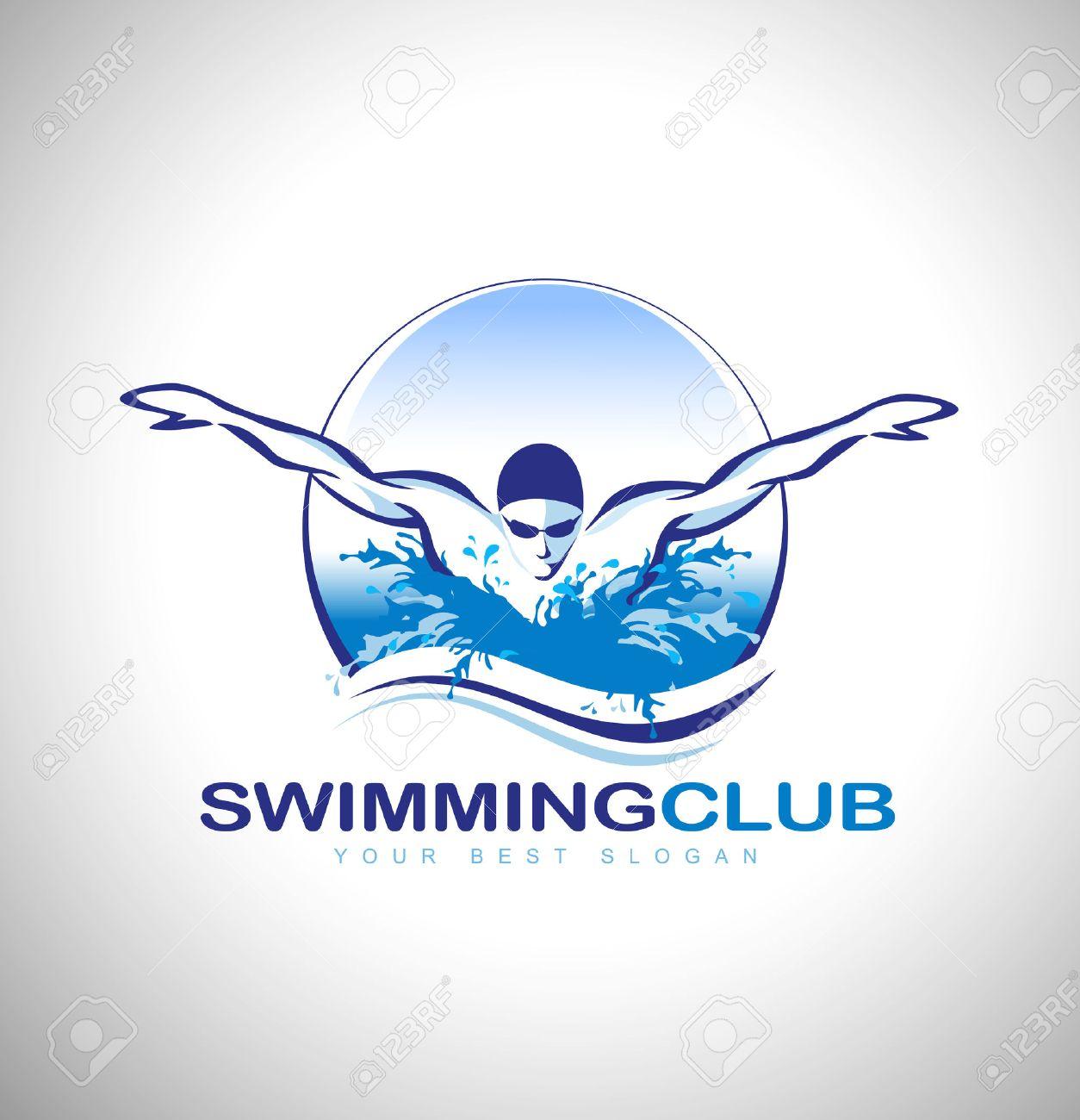 swimming club design swimmer icon design creative swimmer vector rh 123rf com swimming victoria leisure centre nottingham swimming vector