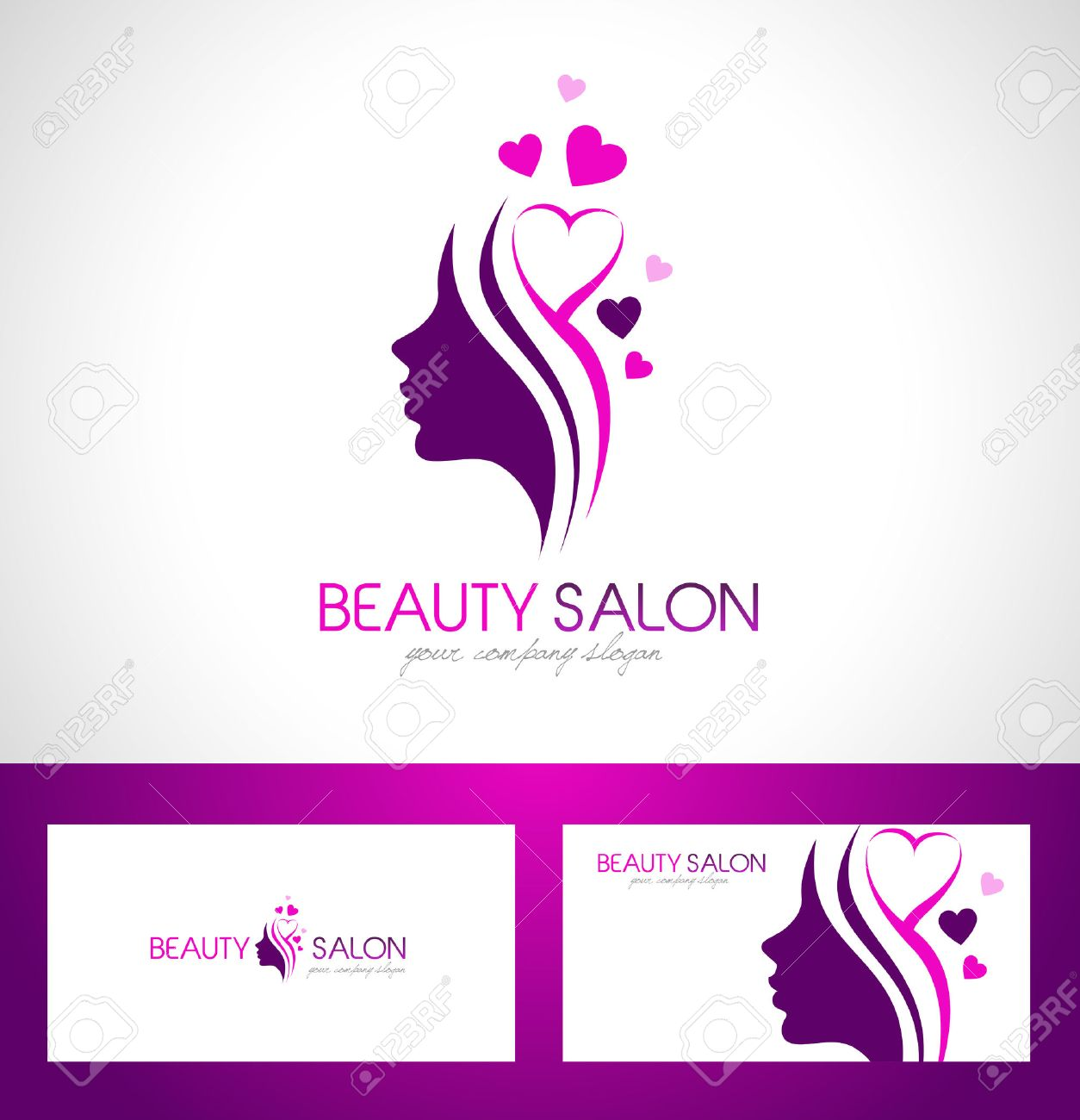 Beauty Female Face Logo Design Cosmetic Salon Logo Design Creative Royalty Free Cliparts Vectors And Stock Illustration Image 45363212