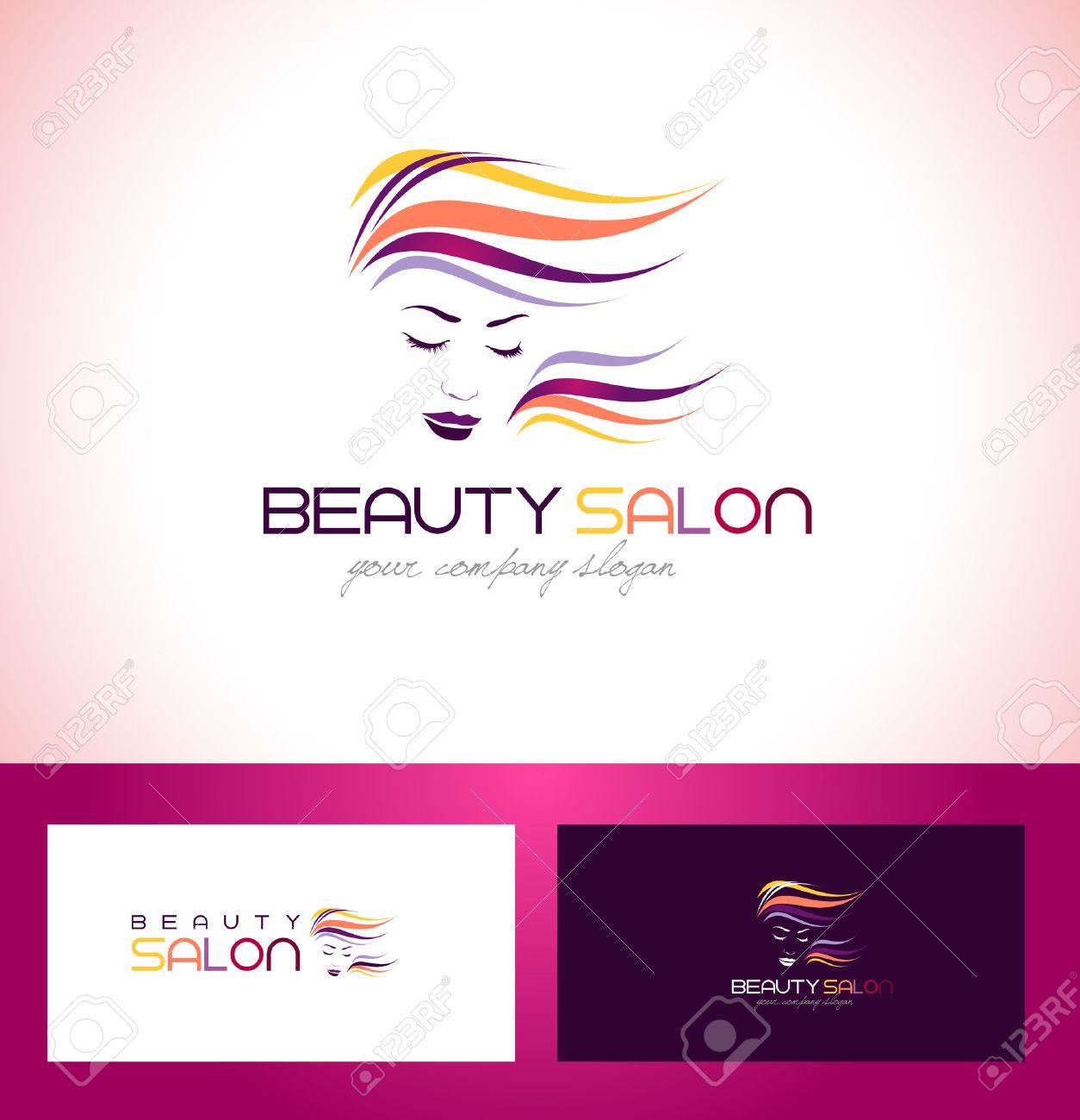 Beauty Female Face Logo Design Cosmetic Salon Logo Design Creative Royalty Free Cliparts Vectors And Stock Illustration Image 45332014